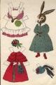 Бумажные куклы - Зайцы (Bunny)