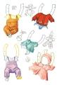 Бумажные куклы - Малыши (teddy)