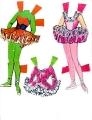 Бумажные куклы - Барби балерина2