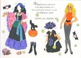Бумажные куклы - Барби (barbie halloween)